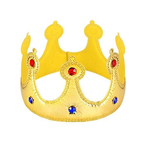 STOBOK Goldene Königskronen Zarter Geburtstagskronenhut für Kindergeburtstagsbabyparty-Partyfoto-Requisiten