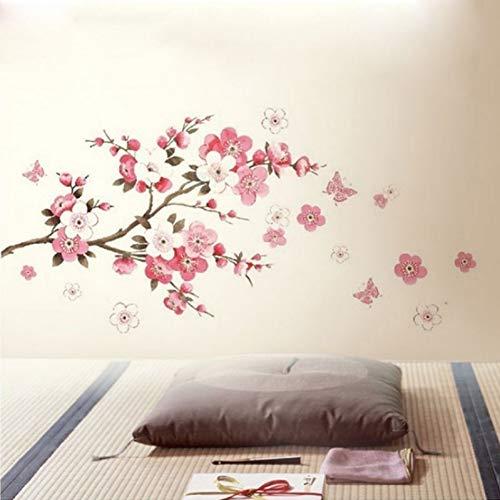 XCWQ muurstickers voor de muur van Sakura ontwikkelde zelfklevende muurstickers voor de decoratie van de woonkamer voor kinderen 45 x 60 cm