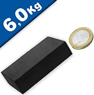 Quadermagnet 60,0 x 40,0 x 15,0 mm Y35 Ferrit