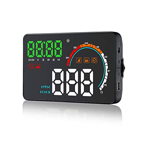 OBDII Car Speedometer Driving Speed Meter Fuel Water Temperature Digital Display Autogood OBD2 Gauge with Holder