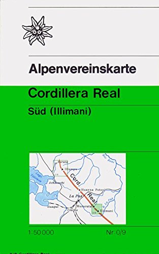 Cordillera Real Süd: Illimani - Topographische Karte 1:50.000 (Alpenvereinskarten)