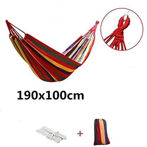 NOBRAND Double Wide Thick Canvas Hammock Outdoor Camping Backpackaging Leisure Swing Portable Hanging Bed Sleeping Swing Hammock
