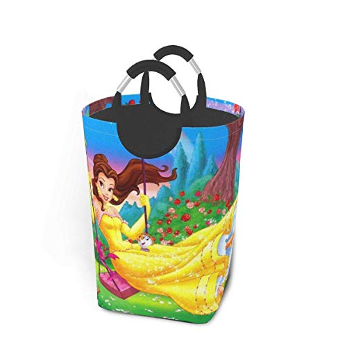 yuecheng Beauty Beast Laundry Basket Dirty Clothes Pack Collapsible Waterproof Travel Laundry Bag Clothes Bag Storage Organizer Folding Portable Washing Bin Hamper College Bathroom 50l black