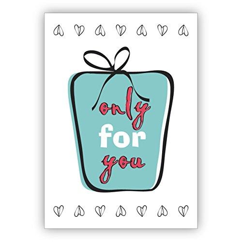 5 stuks verjaardagskaarten leuke retro felicitatiekaart/verjaardagskaart met cadeau: alleen voor you