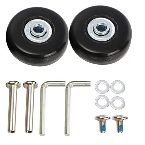 jieGorge 2pcs 50mm Luggage Suitcase Replacement Rubber Wheel Roller Suitcase Repair , Tools & Home Improvement , Products for Christmas