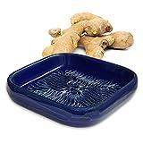 ANCKERAMIC® Ceramico Reibe – Muskatreibe, Ingwerreibe, Parmesanreibe aus Keramik, Handarbeit, Designed in Finnland, (Blau)