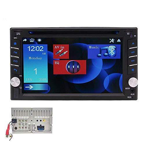 EINCAR 6.2 Pollici Touch Screen Autoradio Doppio DIN Radio in Dash Car Stereo con Bluetooth Universale 2 DIN Navigazione GPS Auto CD Lettore Dvd Supporto SWC USB/TF FM/AM + Carta Map Gratuita