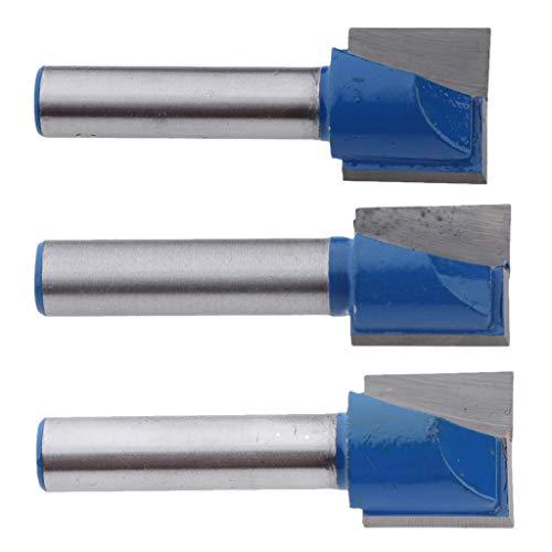 3pcs Nutfräser Holzfräser Schaftfräser Holzarbeitung Werkzeug für Trimmer, 8mm Schaft