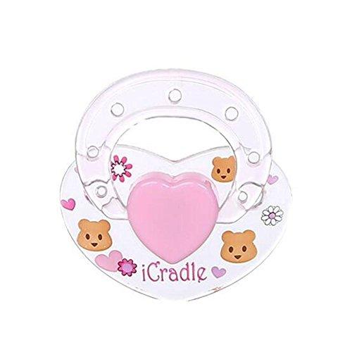 Chupete para bebé reborn, chupete, baberos de goma natural, sin BPA, chupete, chupete, muñecos, suministros para muñecas renacidas, paquete de 4, 0-6 meses