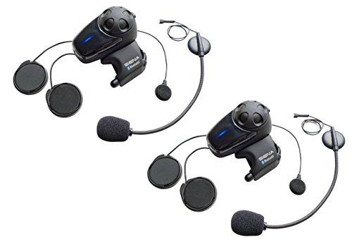 SMH10 Bluetooth-Kommunikationssystem für Motorräder mit Kabel- und Schwanenhalsmikrofon Doppelpack