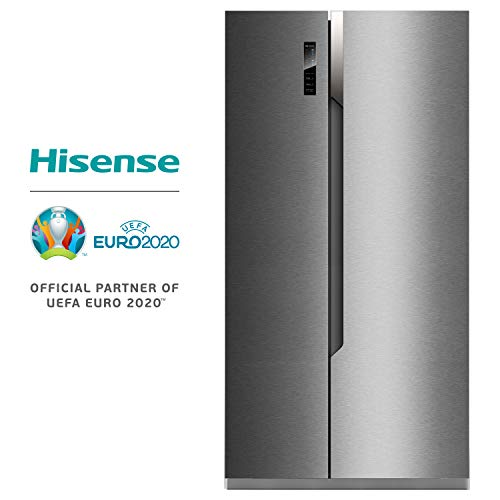 Hisense RS670N4BC3 Independiente 516L A+++ Acero inoxidable nevera puerta lado a lado - Frigorífico side-by-side (Independiente, Acero inoxidable, Puerta americana, LED, Tocar, LED)
