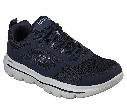 Skechers Men's Go Walk Evolution Ultra-Enhan Trainers, Blue (Navy Grey Nvgy), 7.5 (42 EU)