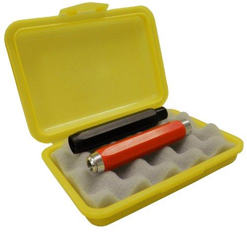 TimeTEX Kreidebox aus Kunststoff mit Schaumstoff Einsatz in gelb (ohne Inhalt)