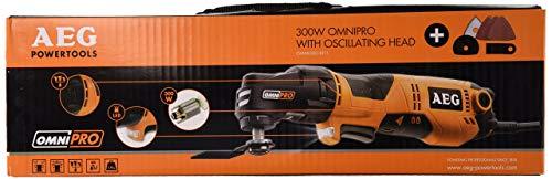 AEG 4935431790 Multiherramienta con cable, accs y bolsa, 230 V, Negro, Naranja