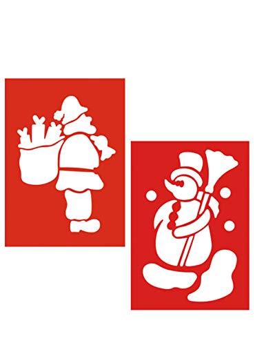 Set van 2 Sneeuwpop en Kerstman Sjablonen