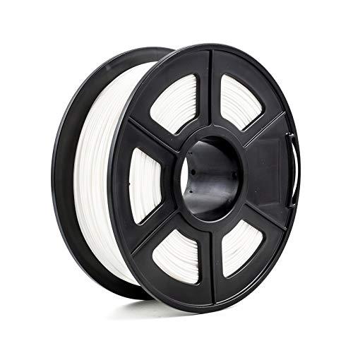 Auartmetion 1pc 3D-Drucker Filament PLA 1,75 mm 1 kg / 2,2 lbs 3D Plastikartikel-Material 3D-Filament USA Natureworks PLA (Farbe : Weiß)