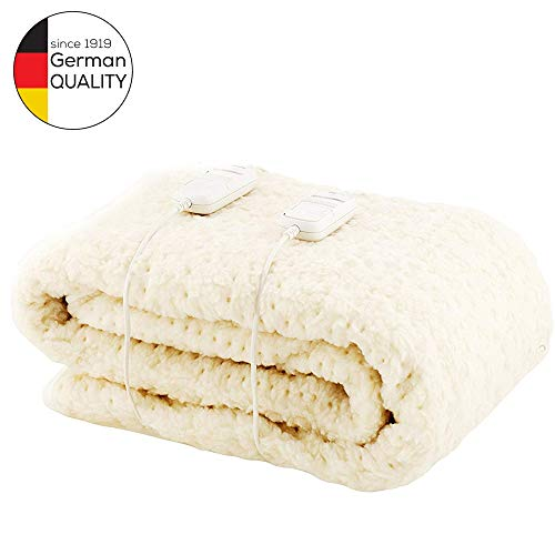 Monogram comfort Fully Fitted Fleecy Heated Blanket/Matras Cover - King Size Dual Control 200 x 150cm
