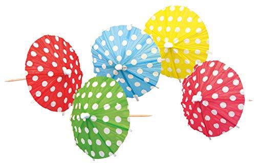 amscan 10053360 551122 10 Papier-Dekoschirmchen, Multicolor