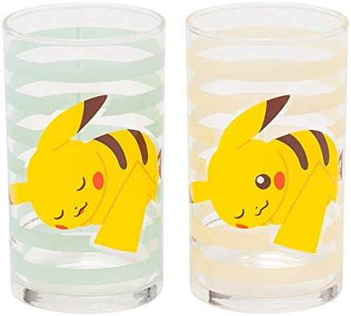 Glass Pokemon Pikachu set of 2