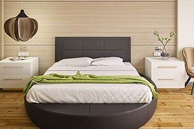 Tapizado en piel ecológica Válido para camas de 135 cm y 150 cm Color: negro Preparado para colgar en la pared Medidas: ancho: 155 cm; alto: 55 cm; grosor: 3 cm