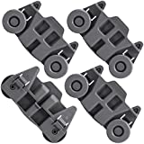 4 PACKS W10195416 Dishwasher Wheels Lower Dish Rack Wheel Assembly - Compatible with Kenmore, Kitchenaid, Whirlpool Dishwasher Wheels, Perfect Replace AP5983730, W10195418, W10195416V, W10195416VP