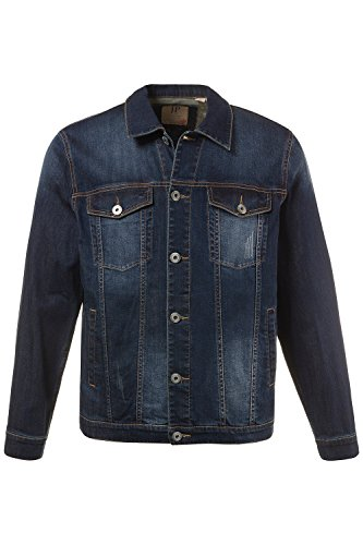 JP 1880 Men's Big & Tall High Stretch Color Fade Denim Jacket Dark Blue XXX-Large 711322 93