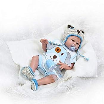 Zero Pam 20 inch Reborn Baby Dolls Full Body Silicone Vinyl Realistic Waterproof Anatomically Correct Bathable Newborn Doll Boy for Toddler Kids