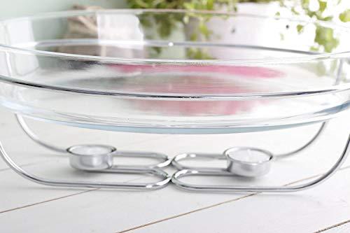 GMMH - Fuente para horno (cristal, resistente al calor, con calientaplatos, 3 L)