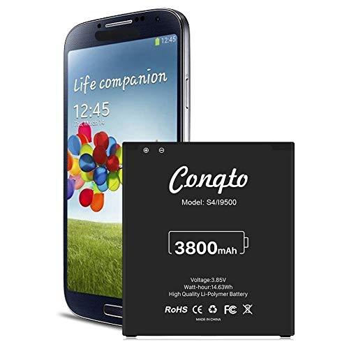 [3800mAh] Batterie Galaxy S4 améliorée, Remplacement de Batterie Conqto Li-ION pour Samsung Galaxy S4, AT&T I337, Verizon I545, Sprint L720, T- Mobile M919, R970, I9500, I9505, Galaxy S4 LTE I9506