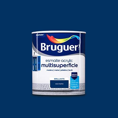 Bruguer Acrylic Multisuperficie Esmalte al agua Brillante Azul Marino 750 ml