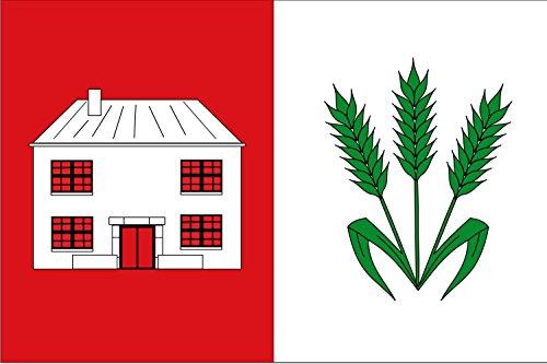magFlags Bandera Large Rectangular de Proporciones 2 3, formada por Dos Franjas Verticales Iguales | Bandera Paisaje | 1.35m² | 90x150cm
