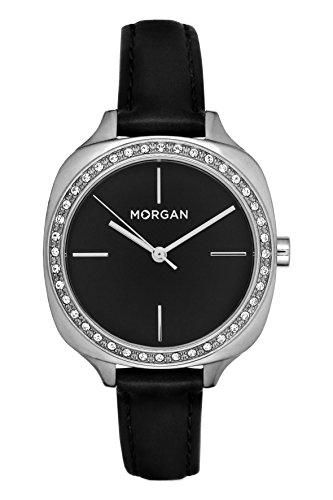 MORGAN Damen Datum Norm Quarz Uhr mit PU Armband MG 003S-AA