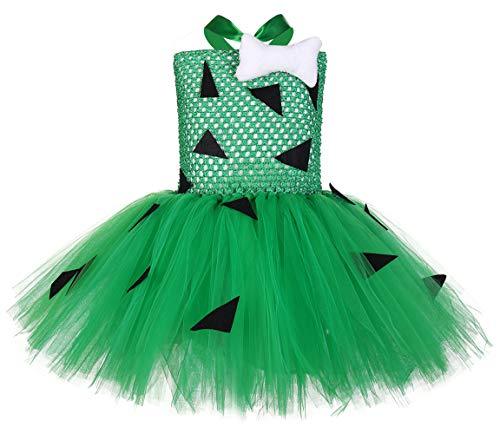 Tutu Dreams Pebbles Costume for Baby Girls Birthday Outfit Photo Props Halloween Holiday Pageant (Pebbles, Small(1-2 years))