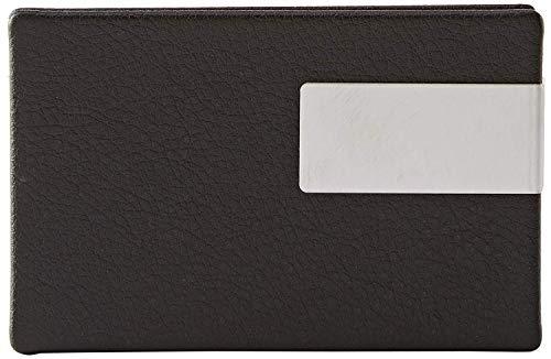 Wedo 2056601 Visitenkartenbox Good Deal für Karten 90 x 57 mm, schwarz/silber