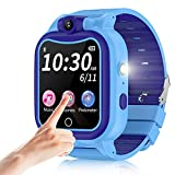 GYET Kids Smartwatch with Camera, Touchscreen Children Smart Watch with Mp3 Pedometer Flashlight Games FM Radio for Age 4-12 Years Old Boys Girls Christmas Birthday Gifts- Blue