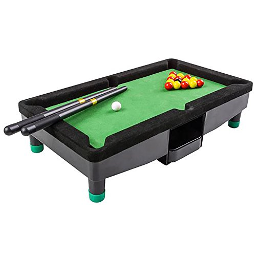 9 Inch Travel Mini Pool Table for Kids by Gamie with 2...