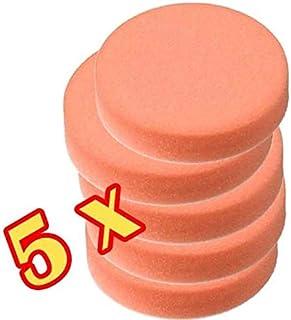 Craft Equip Basic 5er Pack 150mm Polierschwamm orange glatt Auto Pad Polierpad