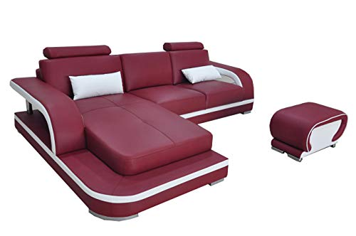 JVmoebel Leder Eck Sofa Garnitur Sofas Couchen Polster Wohnlandschaft Luxus Ecke Couch !
