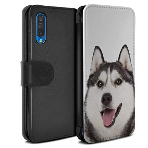 Hülle Für Samsung Galaxy A50 2019 H&/H&e Husky/Heiser Design PU Leder Tasche Brieftasche Schutz Handyhülle Flip Case