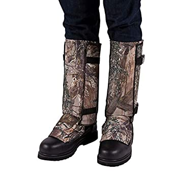 (Large, Mossy Oak) - Crack Shot, Snake Guardz Snake Shin Guard - Leg Snake Guards and Snake Bite Leggings for Men and Women