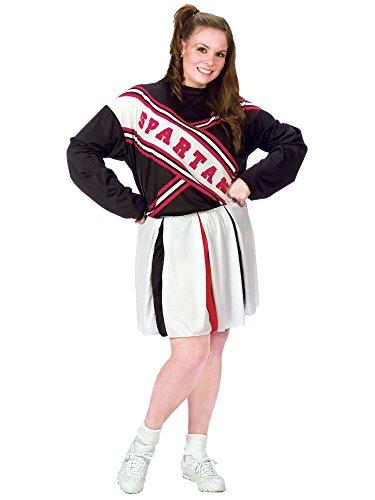Fun World 32621 SNL Spartan Cheerleader Femme plus Costume Plus Size 16-24