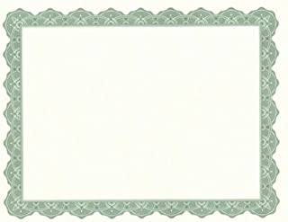 Geographics Optima Green Certificates and Seals, Pack of 25 (39452)