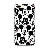 Estuche para iPhone 7 Plus, 8 Plus Disney Mickey y Minnie Original con Licencia Oficial, Carcasa, Funda, Estuche de Material sintético TPU-Silicona, Protege de Golpes y rayones