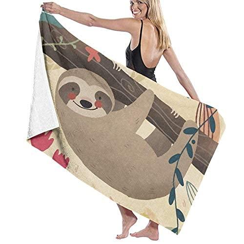 Toalla de playa colgando alrededor de la toalla de bata de bata de una toalla de natación de gran tamaño para niños Manta portátil Paño deportivo ...