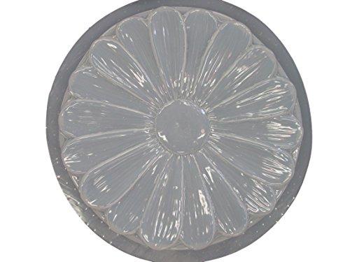 Flower Concrete Plaster Stepping Stone Mold 1142