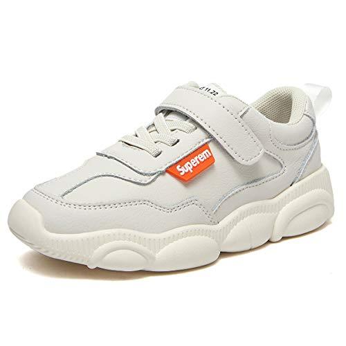 Muchachas Caminando Zapatos Elegante Niños Corriendo Zapatillas Velcro Respirable Beige 30 EU