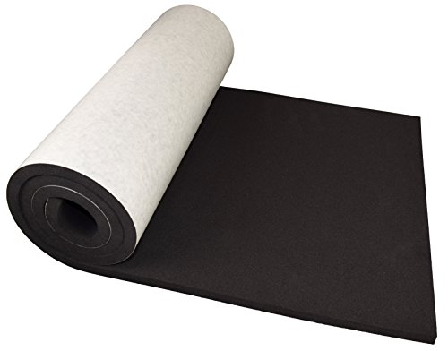 """XCEL Extra Large Marine Roll, Closed Cell Neoprene Rubber with Adhesive, Size 60"""" x 16"""" x 1/2"""", Easy Cut Material, Water and Weather Resistant, Made in USA"""