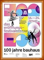 ポスター バウハウス 100 Jahre Bauhaus Festival 2019 white 額装品 ウッドベーシックフレーム(オレンジ)