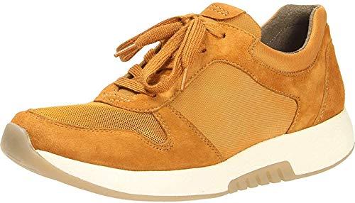 Gabor Damen Low-Top Sneaker 36.946, Frauen Sneaker,Halbschuh,Schnürschuh,Strassenschuh,Business,Freizeit,Curry,38.5 EU / 5.5 UK