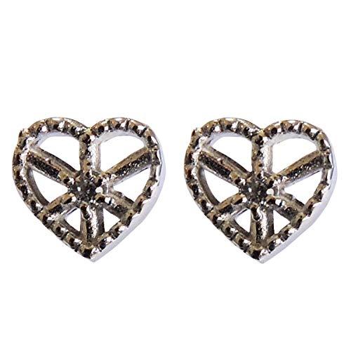 真珠の杜 ダイヤモンド K18ホワイトゴールド スタッド プチ かわいい ハートモチーフ diamond ダイヤ heart ピアス レディース